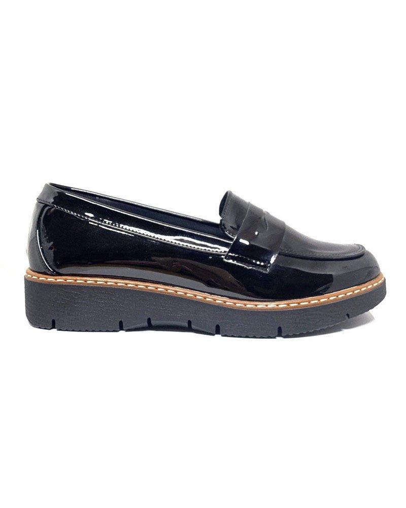 Loafers μαύρο λουστρίνι 23/614 41