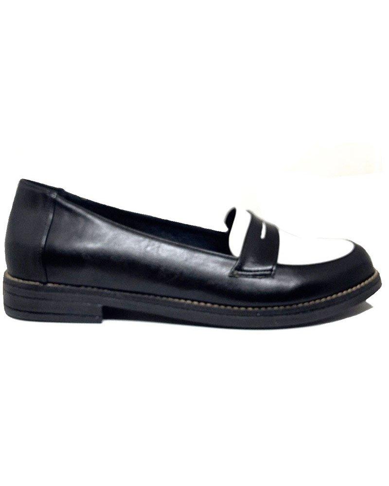 Loafers μαύρο/λευκό 40/1000